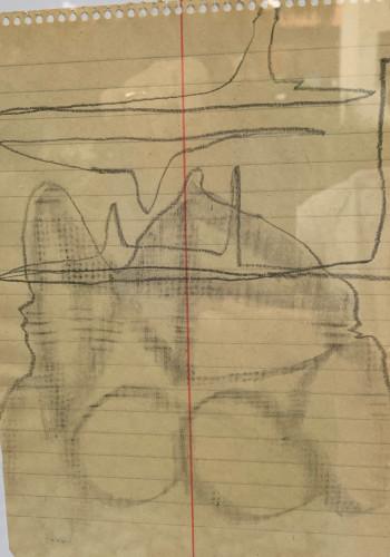 Nr. 37 Vier Hörner, zwei Trompeten 2021 Graphitstift a. Pap. 20,5 x 14,8 cm