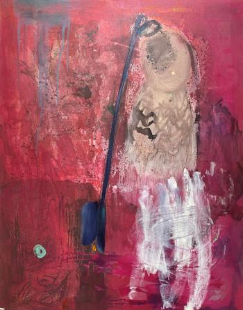 Nr. 15 o.T. 2019 Mischt. a. Lw. 110 x 88 cm