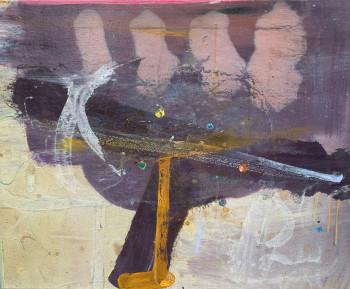 Nr. 8 Im Goldgrund einst der Widerschein 2013 Öl a. Lw. 45 x 55 cm