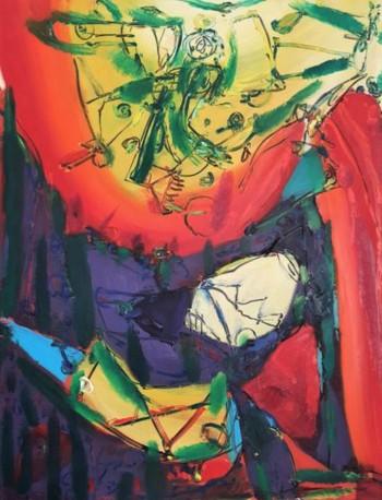 Nr. 9 Gegend 3 1984 u. 1994 Öl a. Lw. 125 x 96 cm