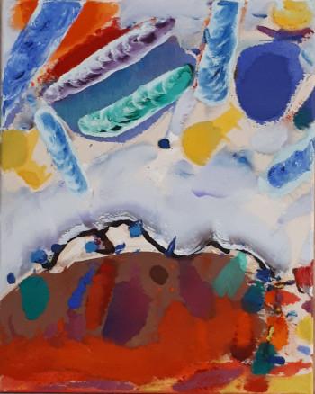 Nr. 8 Ponton 42  2002-06 Öl a. Lw.  50 x 40 cm