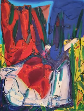 Nr. 11 Gegend 2 1984 u. 1994 Öl a. Lw. 125 x 96 cm