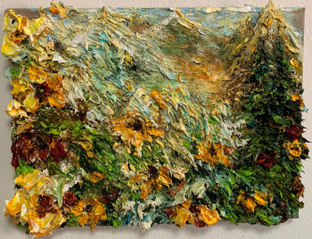 Nr. 5 Malers Bergtag IV 2021 Öl a. Lw. 30 x 40 cm