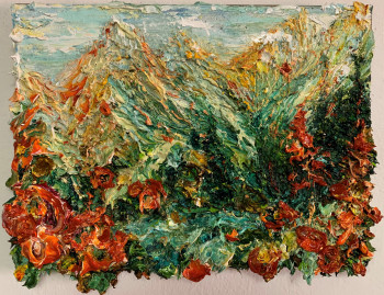 Nr. 4 Malers Bergtag I 2021 Öl a. Lw. 30 x 40 cm