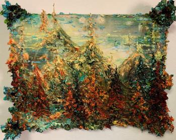 Nr. 7 Malers Bergtag III 2021 Öl a. Lw. 30 x 40 cm