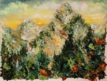 Nr. 6 Malers Bergtag II 2021 Öl a. Lw. 30 x 40 cm