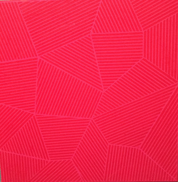 Nr. 3 Linearer Raum RV OR Acryl a. Lw. 30 x 30 x 3 cm