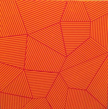 Nr. 2 Linearer Raum LR OR Acryl a. Lw. 30 x 30 x 3 cm