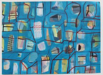 Nr. 27 Raum als Bewusstseinsfeld 2021 Acryl a Pap. 45 x 33 cm