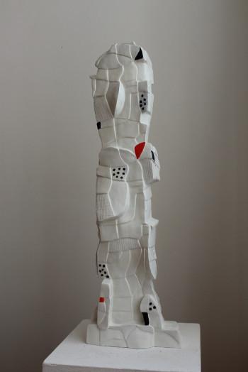 Nr. 11 Komiker aus Lydia 2020 Steinzeug bemalt 68 x 22 x 12 cm