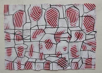 Nr. 26 Postulate Räume 2021 Mischt. a Pap. 44 x 30 cm