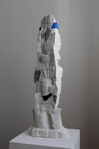 Nr. 13 Poet aus Karia 2020 Steinzeug bemalt 67 x 20 x 11 cm