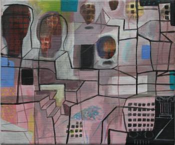 Nr. 34 Historische Pojektion der Erinnerung 2021 Acryl a. Lw. 25 x 30 cm