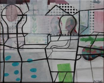 Nr. 36 Phantasie 2021 Acryl a. Lw. 25 x 30 cm