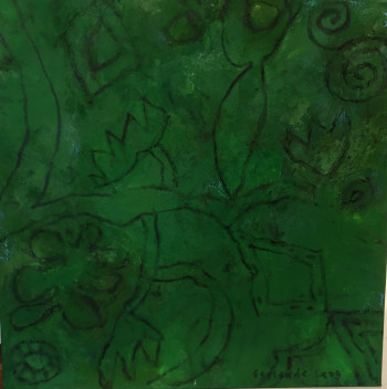 Nr. 4 Es grünt so grün Mischtechnik 60 x 60 cm