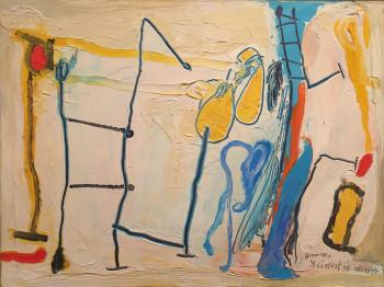 Nr. 12 Komposition in Gelb 28.10.1994 Öl a. Karton 30 x 40 cm
