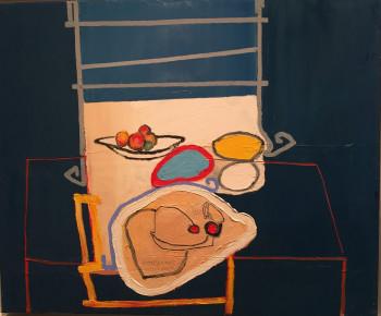 Nr. 14 Tischstillleben 2004 Öl a. Lw. 50 x 60 cm