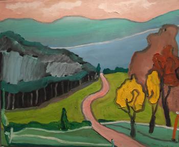 Nr. 13 Landschaft Weg zum See 2011 Öl a. Lw. 50 x 60 cm