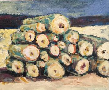 Nr. 6 Am Waldrand 50 x 60 cm Öl a. Lw.