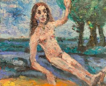 Nr. 10 Maria Magdalena 2021 Öl a. Lw.  24,5 x 30 cm