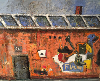Nr. 4 Old House 120 x 150 cm Öl a. Lw.