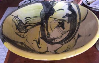 Nr. 1 Schüssel groß gelb - schwarz