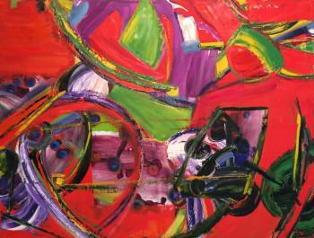 Nr. 9  Im Schatten des Gärtners 2003 Öl a. Lw.    105 x 134 cm