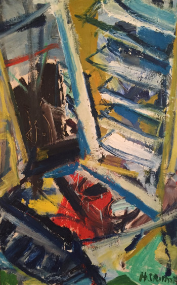 Nr. 13  Nr.83 o.T. 2004 Öl a. Sperrholz 127 x 83 cm