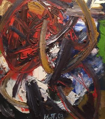 Nr. 17 Nr.107 o.T. 2003 Öl a. Hartf. 68 x 59 cm