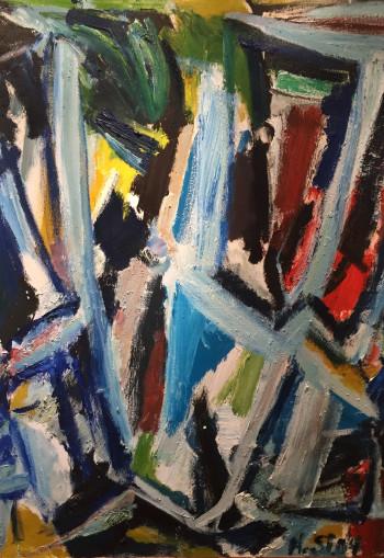 Nr. 11 Nr.79 o.T. 2004 Öl a. Lw. 135 x 100 cm