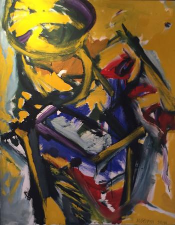 Nr. 2 Nr.1 Öl-Lw. 100 x 80 cm  1992-99 sign.,gerahmt