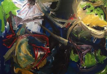 Nr. 9 Nr.53  o.T. Öl auf Pappe 77 x 105 cm