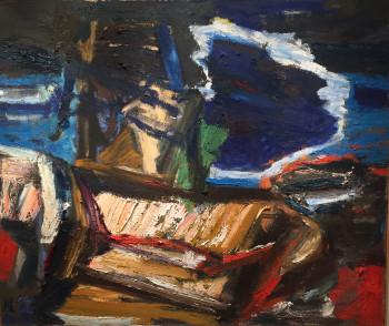 Nr. 20 Nr.116 o.T. 2002 - 2005 Öl a. Sperrholz 100 x 120 cm