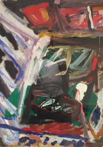 Nr. 6 Nr.8 neu o.T. 96 Mischt. a. Pap. 100 x 75 cm