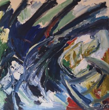 Nr. 32 Öl-Lw. 100 x 80 cm  1992-99 sign.,gerahmt nummeriert rückseit. HS 3037