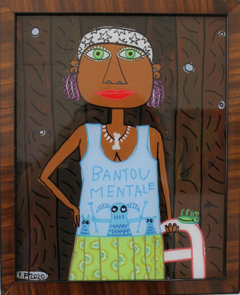 Nr. 28 Bantou Mentale 2020 Hinterglasmalerei