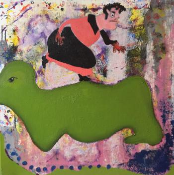 Nr. 3 Die Menschenfresserin 2006 50 x 50 cm