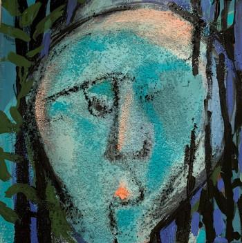 Nr. 10 Waldbader 2021 Acryl a. Lw. 40 x 40 cm
