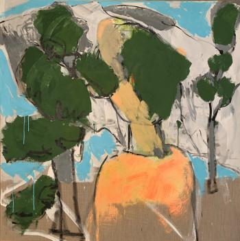 Nr. 14 unbegabter Waldbader VIII 2021 Acryl a. Lw. 149 x 149 cm