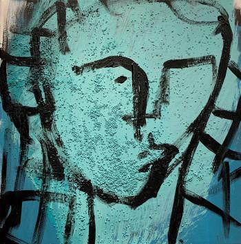 Nr. 12 Büste 2021 Acryl a. Lw. 40 x 40 cm