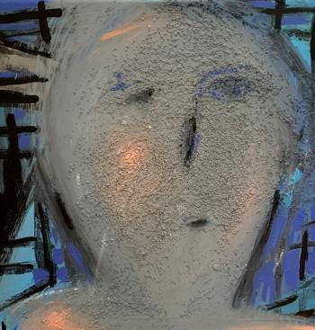 Nr. 11 Austragsbäuerin 2021 Acryl a. Lw. 40 x 40 cm