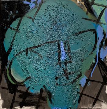 Nr. 13 o.T. 2021 Acryl a. Lw. 40 x 40 cm
