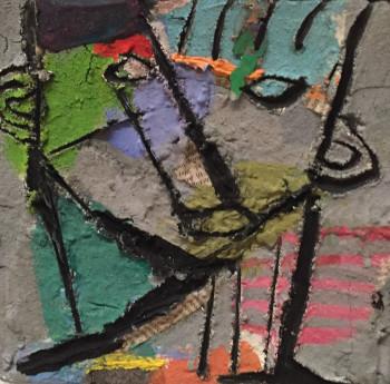 Nr. 75 o.T. Öl a. Lw. 20 x 20 cm