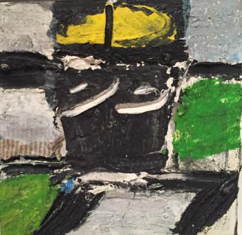 Nr. 76 o.T. Öl a. Lw. 20 x 20 cm