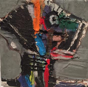 Nr. 71 o.T. Öl a. Lw. 20 x 20 cm