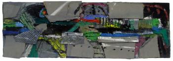 Nr. 38 Breite Gruppe 2016 Materialbild, 40 x120 x 5 cm