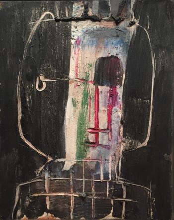 Nr. 19 Kopf 1  2019 Öl a. Lw. 50 x 40 cm