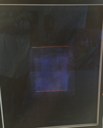Nr. 7  Pigmentbild a. Bütten blau