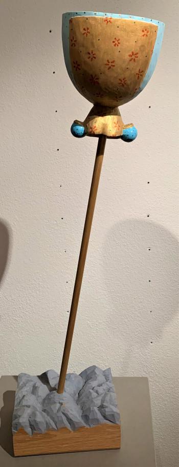 Nr. 14a Satelitenin Tradition 2013 Eichenholz Linde Fichte 64 x 17 x 20 cm
