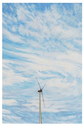 Nr. 1 Lonesome Windmill 2017 Öl a. Lw. 90 x 60 cm